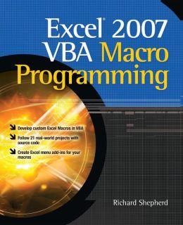 Excel VBA Macro Programming Richard Shepherd