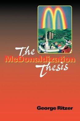 SOC 110HA – The McDonaldization of Society