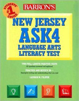 Barron's New Jersey ASK4 Language Arts Literacy Test Lauren Filipek