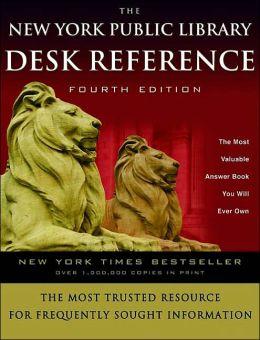 The New York Public Library Desk Reference Paul Fargis