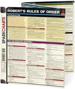 Robert rules of order cheat sheet