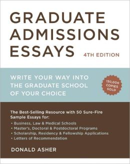 Grad school admission essay books