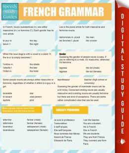 french grammar speedy study guides pageperfect nook book by speedy publishing 9781633839625. Black Bedroom Furniture Sets. Home Design Ideas